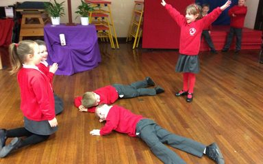 Year 2 role play the Easter story – He is Risen!