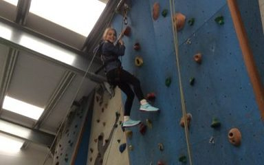 And the action begins…. Group Zulu are indoor climbing…