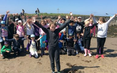 Year 4 Summer trip to Holy Island 2016
