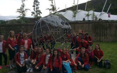 Having a great time at Dynamic Earth